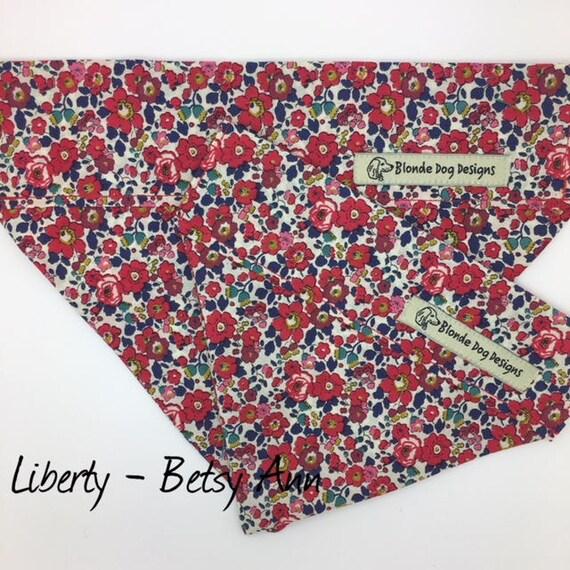 Liberty Dog Bandana, Betsy Ann, Floral Neckerchief