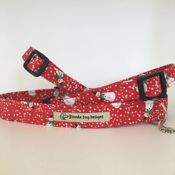 Christmas Dog Collar, Snowman, Festive Dog Collar