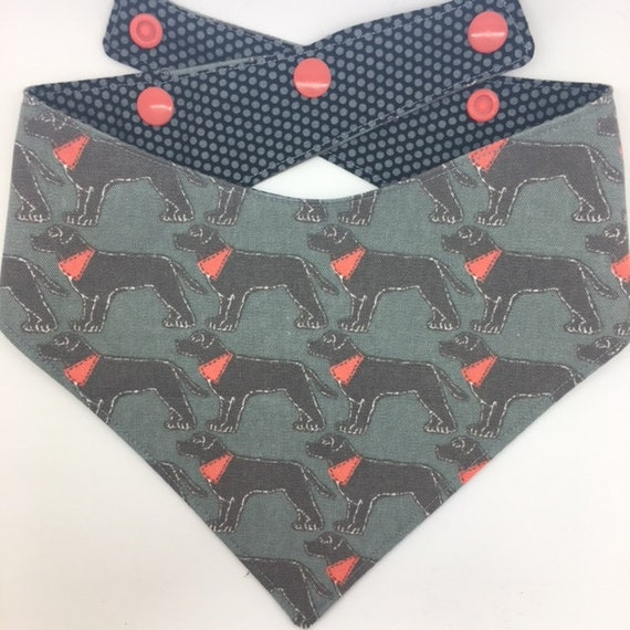 Labrador Bandana, 'Labrador's in Bandanas' Luxury Dog Bandana, Labrador Neckerchief, Luxury Neckerchief