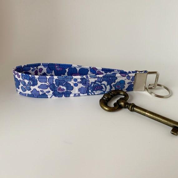 Liberty Key Fob, Betsy Blue, Liberty Key Ring, Floral Key Fob, Floral Key Ring