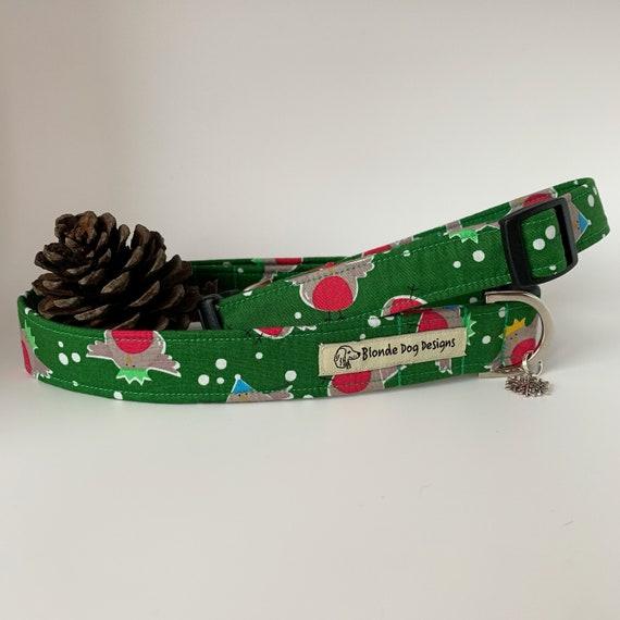 Christmas Dog Collar, Rockin' Robin, Festive Collar, Robin Dog Collar