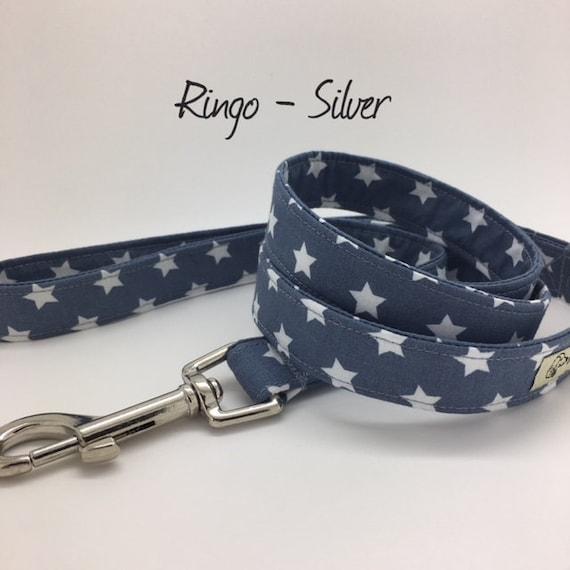 Star Dog Lead, Ringo Silver, Stars Dog Leash