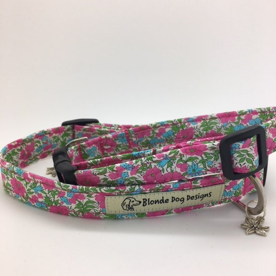 Liberty Dog Collar, or, Liberty Dog Lead, Rosalind, Floral Dog Collar, Floral Dog Leash
