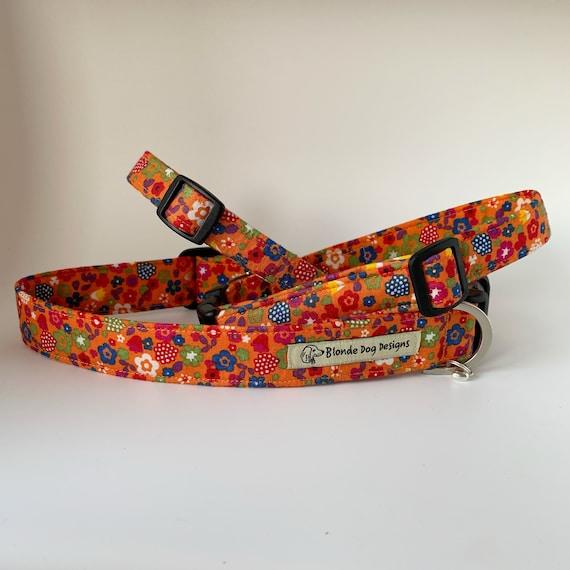 Ditsy Summer Floral Collar, Orange Floral Collar