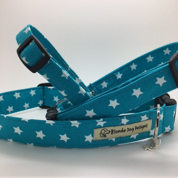 Star Dog Collar, Ringo Teal