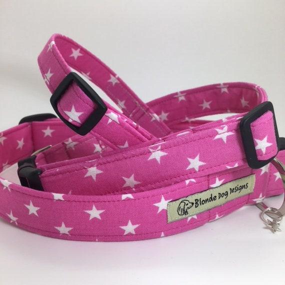 Star Dog Collar, Ringo Pink, Luxury Dog Collar