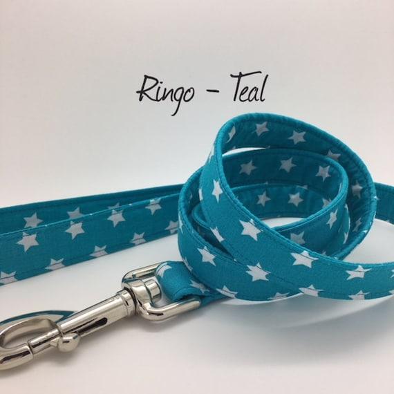 Star Dog Lead, Ringo Teal, Stars dog leash