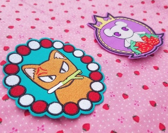 a6d266ee05d Furuba Cat and Mouse Patches