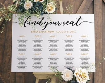 printable wedding seating chart seating chart sign wedding table plan templates find your seat weeding seating chart board