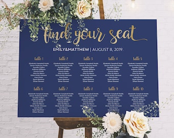 wedding table chart etsy