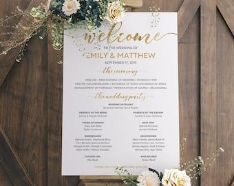 wedding timeline program etsy