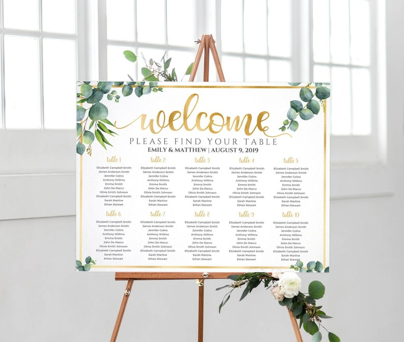 Wedding Seating Chart Wedding Table Plan Seating Chart