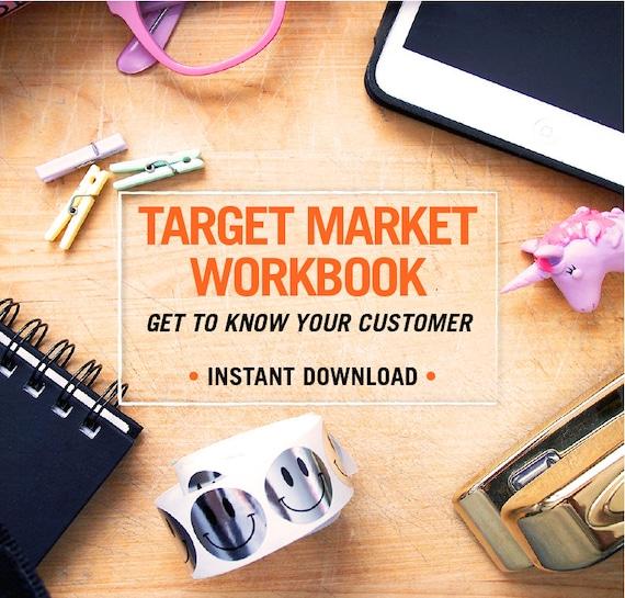 Target Market Workbook Digital Download Etsy Worksheet Etsy Etsy