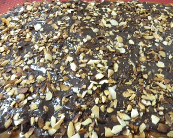 toffee almond butter crunch, almond toffee, chocolate toffee butter brickle, candy, brittle, almond candy, chocolate almond brickle,