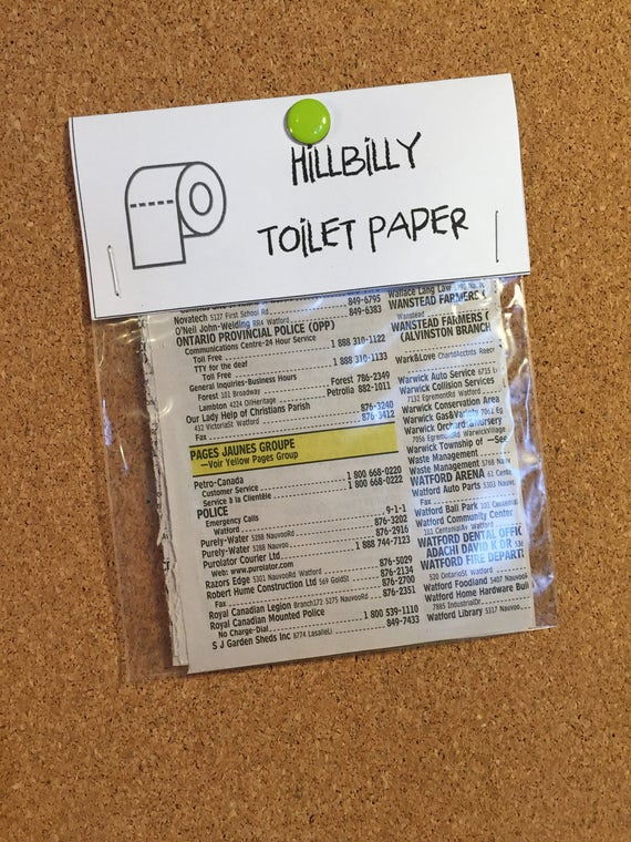 Hillbilly Toilet Paper 10 Pack Gag Gifts White Elephant