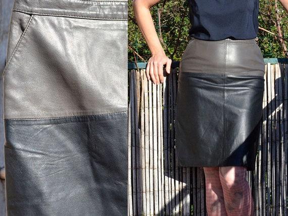 Lamb Leather Skirt Gérard Darel Sportswear Vintage