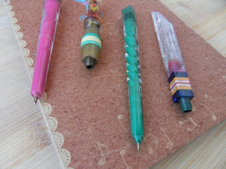 Flower.Vintage-Retro Soviet Hand-Made Pen.Prison Art ballpoint pens is a rarity. 2 pcs.Ball-Point Pen USSR the 1970s.Piece