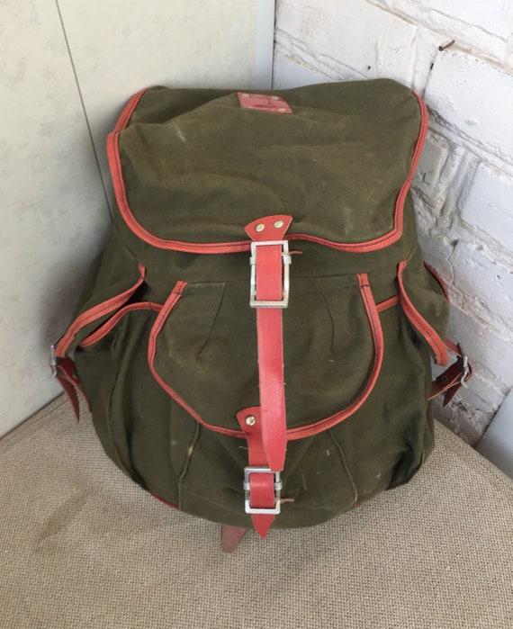 Vintage backpack, Canvas, Old backpack, Hiking, Ca