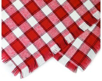 Picnic Frayed Flannel Bandana