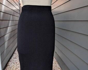 80a7064b30 Vintage St John Knit Black Skirt // Vintage Black Mini Skirt // St John  Skirt