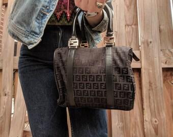 f1786e295eb5 Vintage Fendi purse    Top handle Fendi Purse    Fendi Hobo bag    Vintage  top handle purse