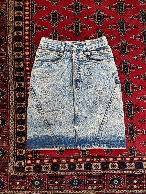 1980s-90s Palmetto Jean Skirt // Vintage Denim Aci