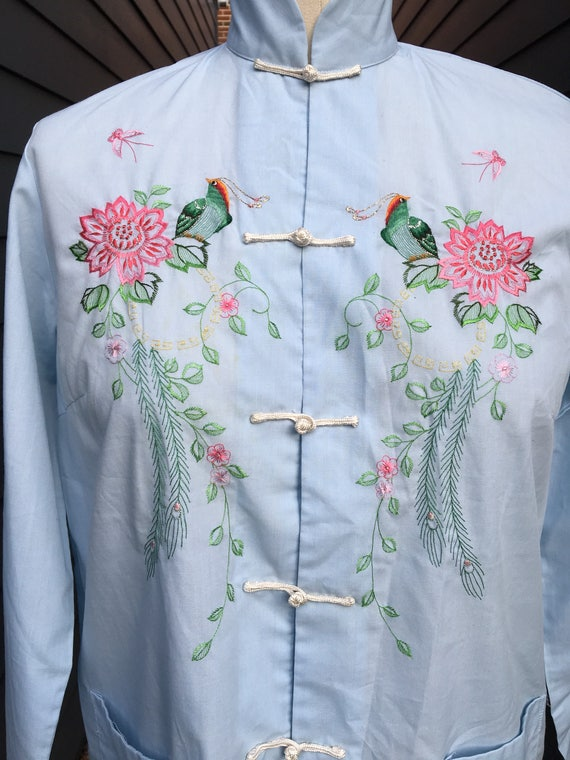 1960s Chinese Embroidered Blouse // Embroidered B… - image 2