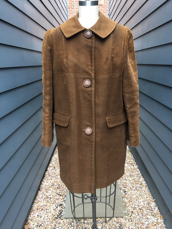 1970s Faux Suede Jacket // Vintage Insulated Jacke