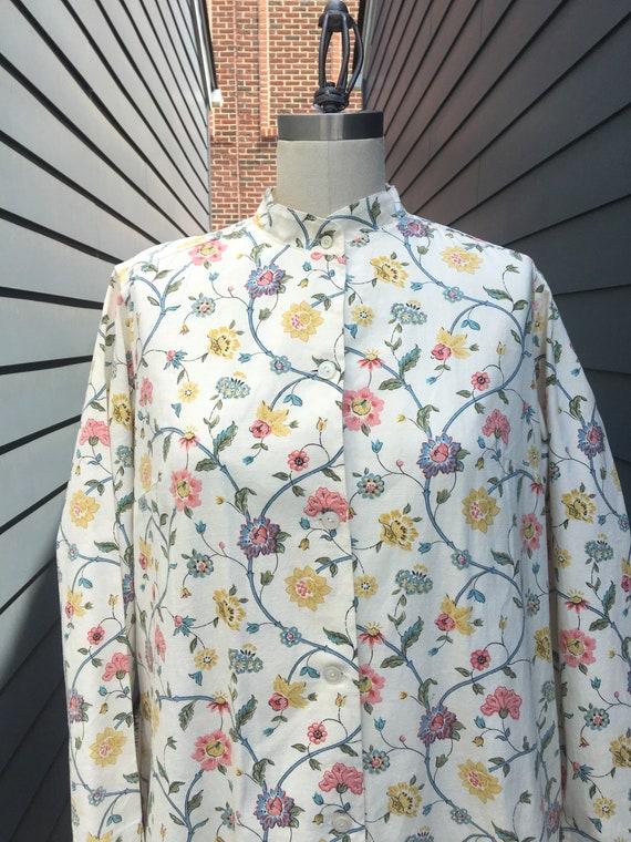 1970s Floral Cotton Dress // Vintage Cotton dress… - image 2