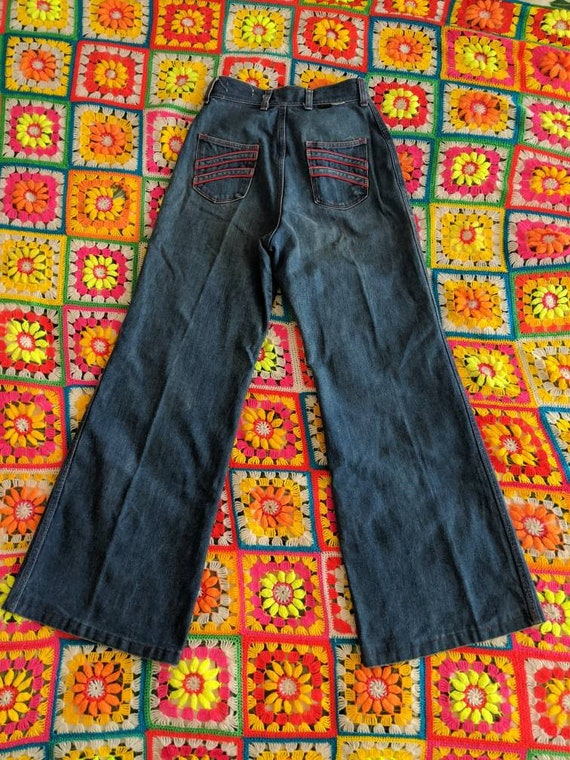 1970s Wrangler Flares Jeans // Vintage Wrangler B… - image 2