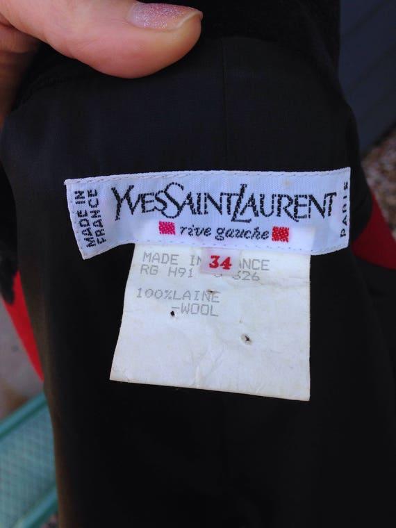 Vintage Yves Saint Laurent Rive Gauche Red Blazer… - image 6