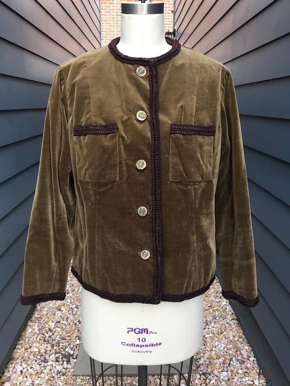 1940s-50s Velvet Jacket // Velvet Jacket // vintag