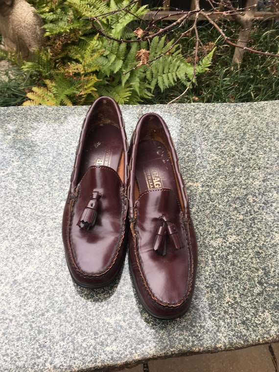 Vintage leather loafers with toggles // Brown Lea… - image 2