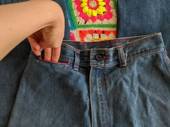1970s Wrangler Flares Jeans // Vintage Wrangler B… - image 6