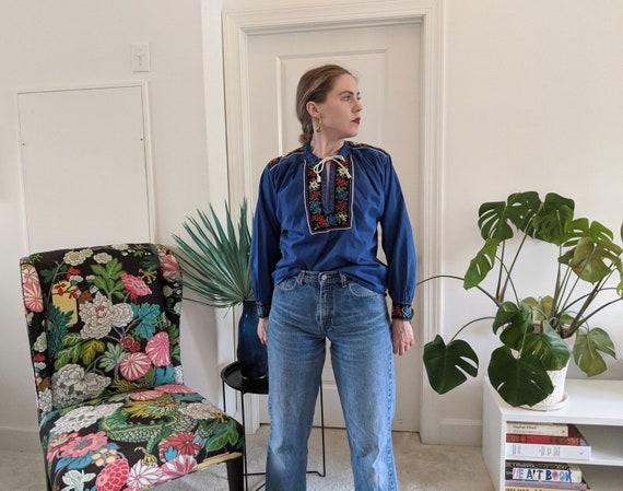 1970s Tracheten Austrian German blouse // Vintage