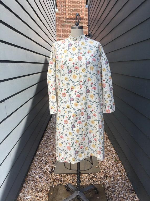 1970s Floral Cotton Dress // Vintage Cotton dress
