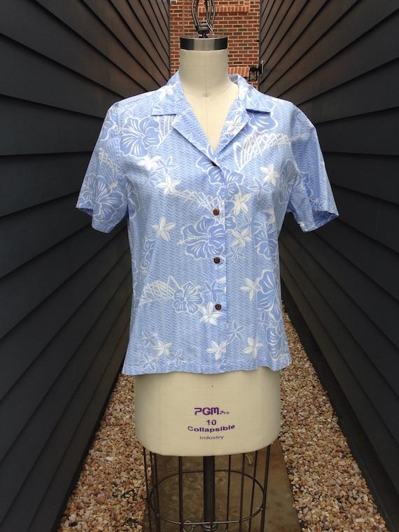 1960s Hawaiian Shirt // Vintage Hawaiian Shirt //