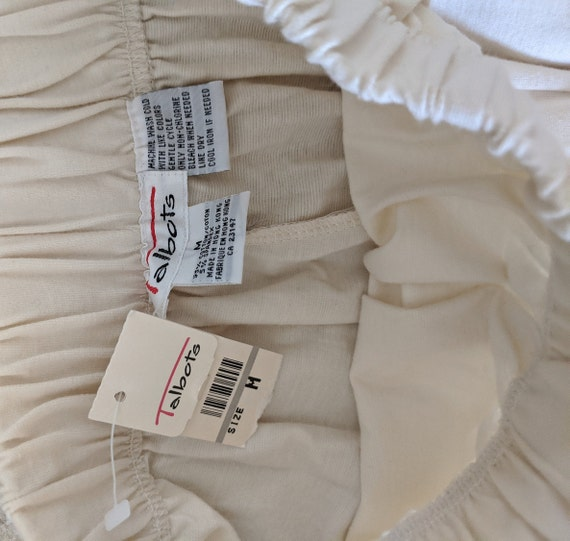 Vintage Knit White Stirrup Pants // Vintage White… - image 5