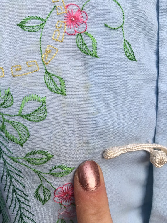 1960s Chinese Embroidered Blouse // Embroidered B… - image 4