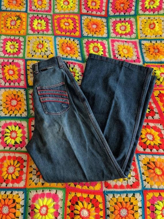 1970s Wrangler Flares Jeans // Vintage Wrangler Be