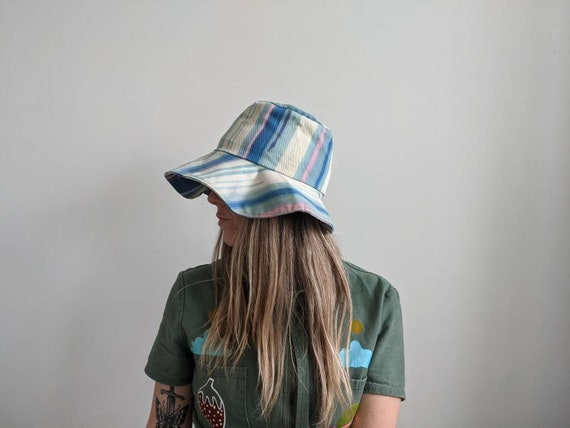 Vintage Dyed Bucket Hat // Tie dyed hat // 1970s … - image 3