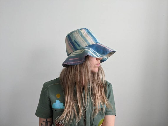 Vintage Dyed Bucket Hat // Tie dyed hat // 1970s … - image 2