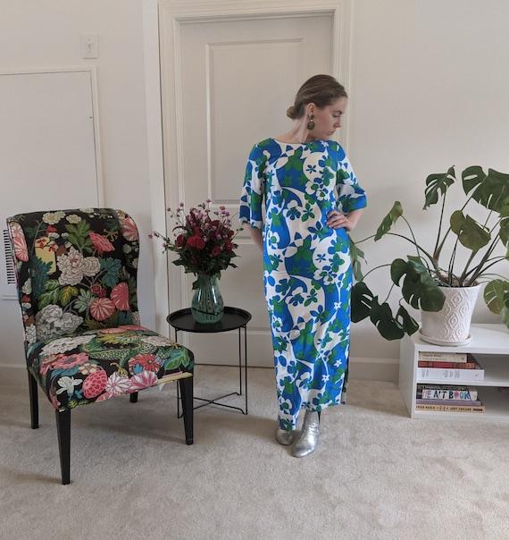1960s Psychedelic Printed Hawaiian Dress // Psych… - image 2