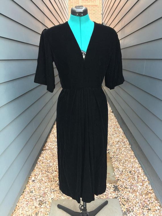 Albert Capraro Velvet Dress // Vintage velvet dres