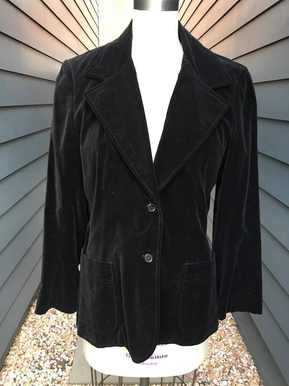 Vintage Velvet Jacket // Velvet Blazer Jacket // C