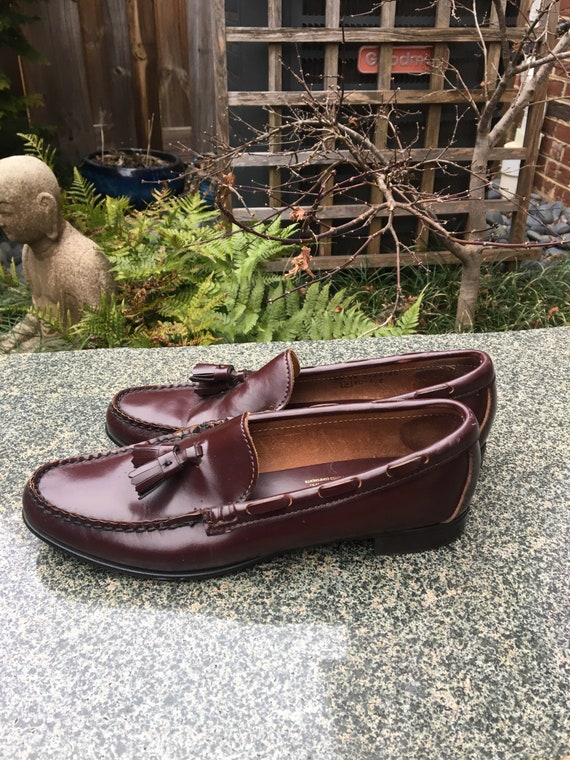 Vintage leather loafers with toggles // Brown Lea… - image 3
