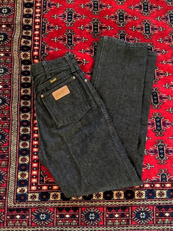 Vintage Black Wrangler Jeans // Vintage wranglers