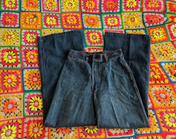 1970s Wrangler Flares Jeans // Vintage Wrangler B… - image 4