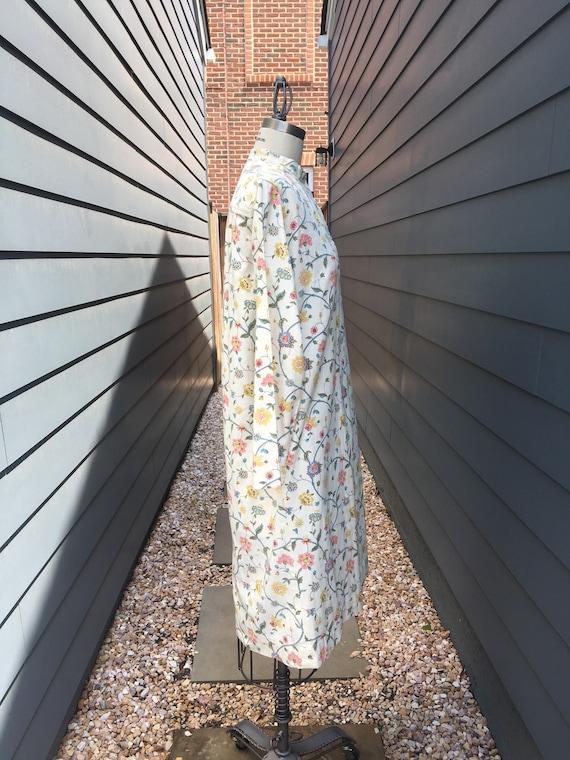 1970s Floral Cotton Dress // Vintage Cotton dress… - image 3