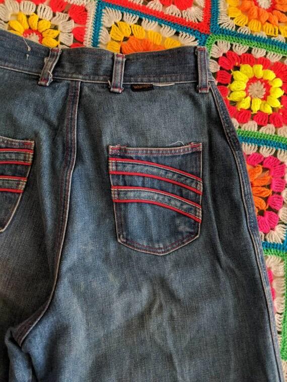 1970s Wrangler Flares Jeans // Vintage Wrangler B… - image 9